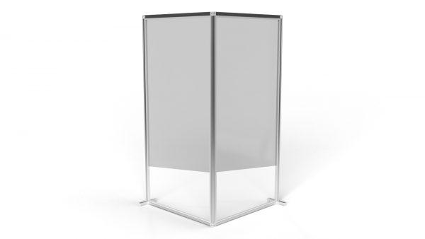 Grey L 2m Freestanding Wall T3