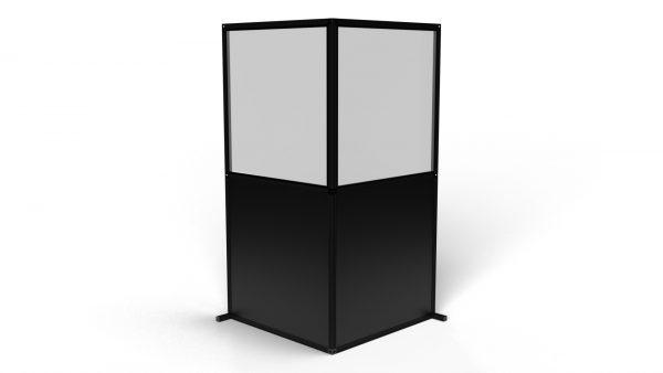 Black L 2m Freestanding Wall T3
