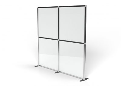 2m Clear Partition