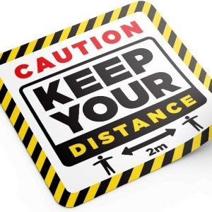 keep your distance floor graphic 300