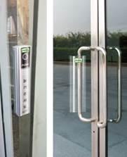 Door handle with Airpurity film